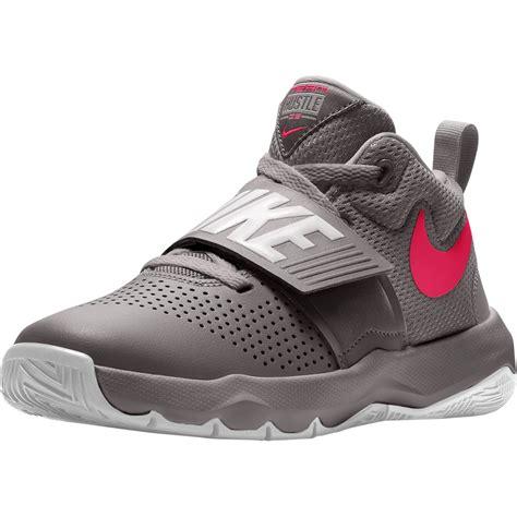 nike grade school girls team hustle  basketball shoes
