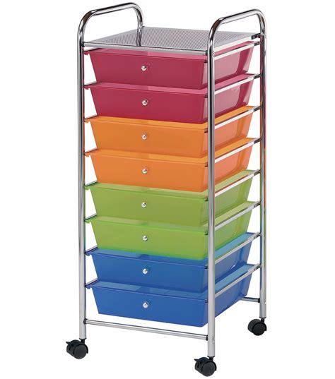 drawer organizer cart storage cart with 8 drawers multi 16 25 x14 5 x39 75
