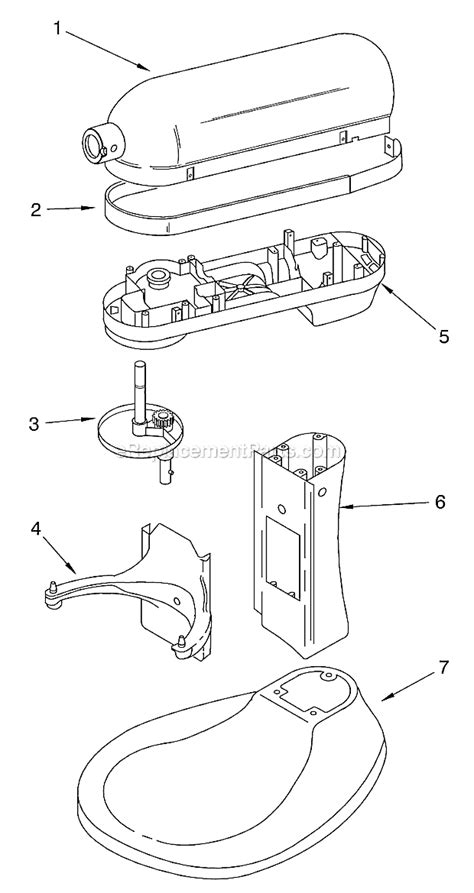 kitchenaid kghx parts list  diagram series