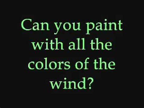 the colors of the wind lyrics colors of the wind lyrics