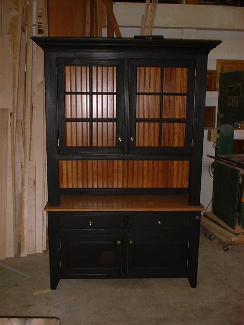 hand crafted shaker hutch  custom woodworking design