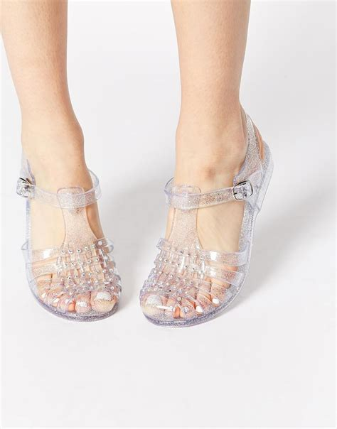 wedges jelly coktu adcenter sq new look jellytot embellished flat jelly shoes for