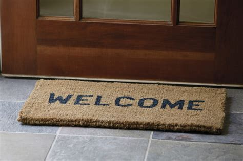 welcome home doormat be hospitable one to another 1 4 9 grace bible