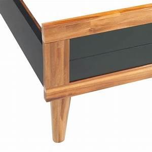 Cadre Lit Bois : acheter vidaxl cadre de lit bois d 39 acacia massif 200 x 140 ~ Teatrodelosmanantiales.com Idées de Décoration
