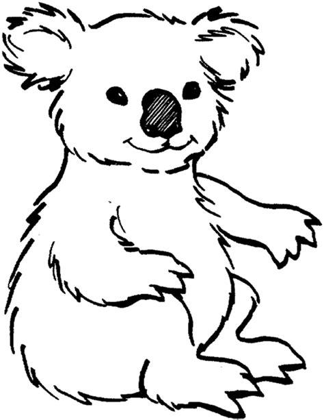 cute printable animal koalas coloring books  kids