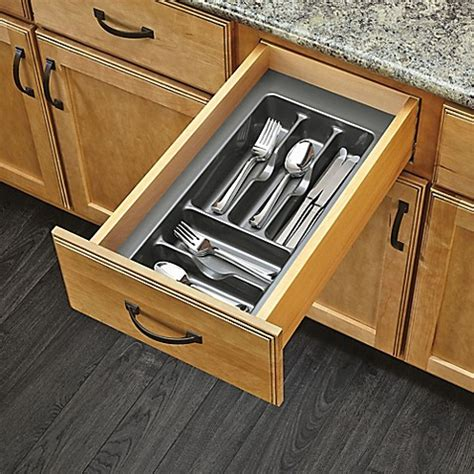 narrow kitchen cabinet organizers rev a shelf 174 glossy cutlery organizer bed bath beyond 3430