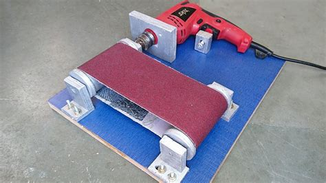 drill powered belt sander    simplest designs