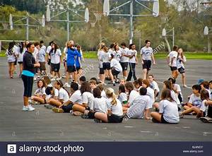 Uniformed middle school students turn out for physical ...