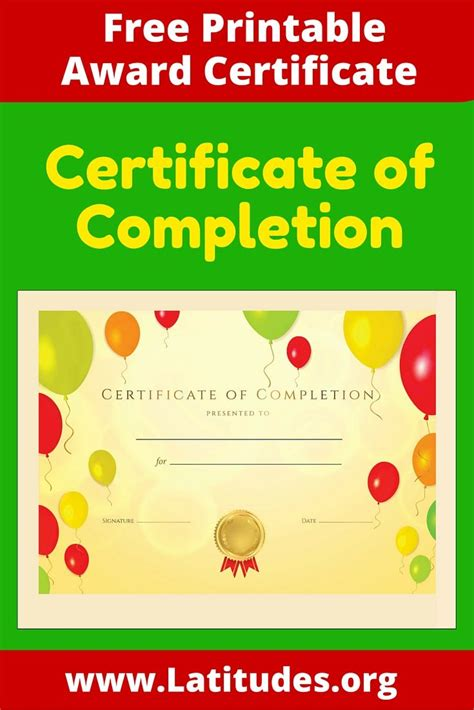 certificates of completion for kids 58 best award certificates for kids images on pinterest