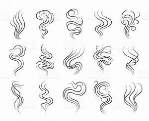 Smoke Smell Line Icons Stok Vektör Sanatı & Akmak'nin Daha ...