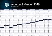 Vollmond Kalender 2019 - Vollmond Datum im Überblick┃3 ...