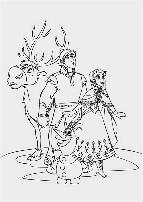 beautiful coloring pages frozen ready  print
