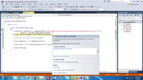 Console Application by C Illegal Characters In Path In Console Application