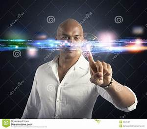 Futuristic Touch Screen Interface Stock Image - Image ...