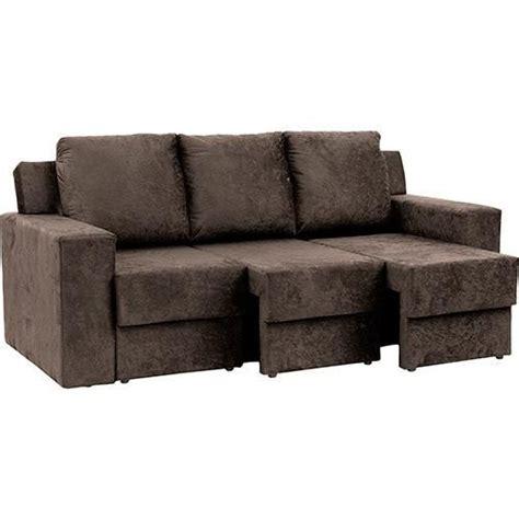 foto  sofa  lugares  assento retratil atlantis ultrasuede amassado marrom athome