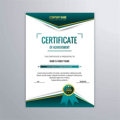 certificate template  modern style vector