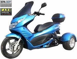 Ice Bear  U0026quot Q6 U0026quot  50cc Full Size Motor Trike Scooter Pst50