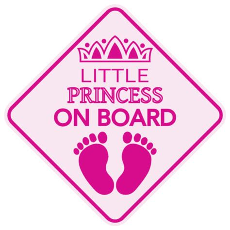 Baby On Board Template by Stickers Gt Princess On Board Sticker Buy From E Shop