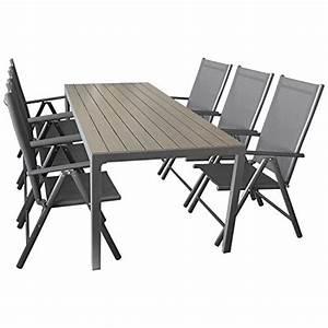 Gartenstühle Alu Klappbar : 9 teiliges gartenm bel set aluminium polywood gartentisch 205x90cm stapelbare ~ Eleganceandgraceweddings.com Haus und Dekorationen
