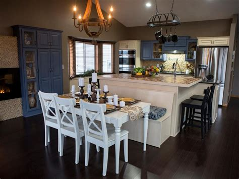 kitchen and dining room combination makeovers 20 small kitchen makeovers by hgtv hosts hgtv 9038