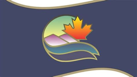 sault ste marie  city flag features maple leaf river