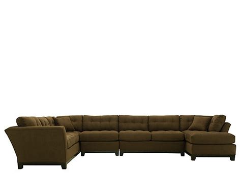 cindy crawford metropolis 4 pc microfiber sectional sofa