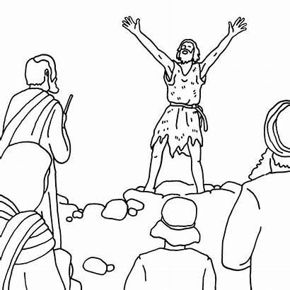 Baptist John Coloring Way Pages Matthew Bible