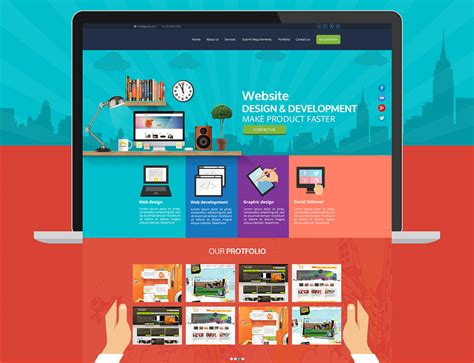 company onepage website templates 2016 web services company website template free psd download