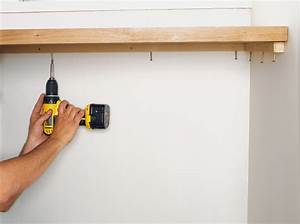 Fixer Une Télé Au Mur : fixer un plan de travail au mur maison design ~ Premium-room.com Idées de Décoration
