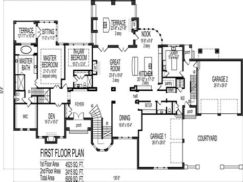 5 bedroom house plan 6 bedroom house plans blueprints 5 bedroom house plans 1