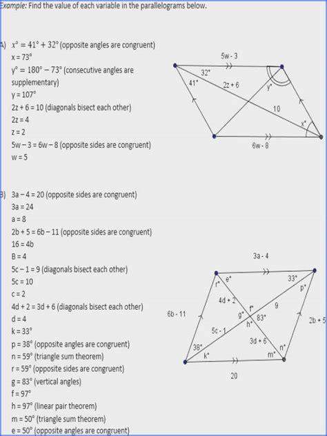 parallelogram worksheet mychaumecom