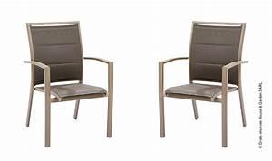 Fauteuil Jardin Aluminium : fauteuils jardin taupe modulo fauteuil empilable aluminium ~ Teatrodelosmanantiales.com Idées de Décoration