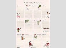 Die Geburtstage des Jahres Kalenderposter im