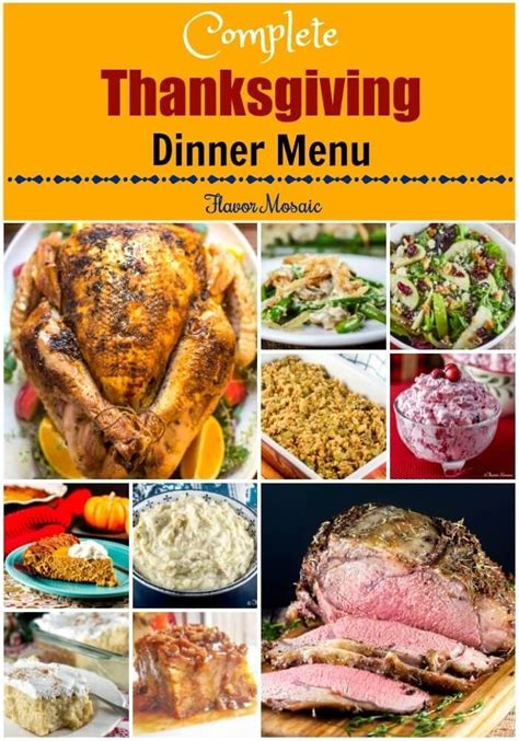Kitchen Kabaret Thanksgiving Menu by This Thanksgiving Dinner Menu Provides A Complete