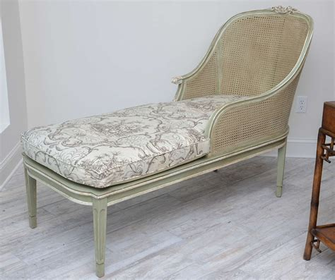 chaises louis xvi louis xvi style caned chaise lounge at 1stdibs