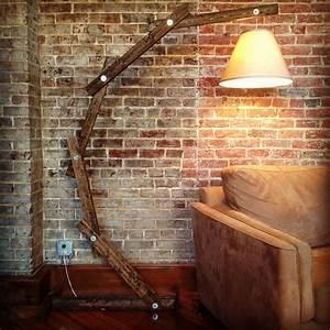 Rustic wood arc floor lamp c by awalkthroughthewoods on etsy for Wooden floor lamp etsy