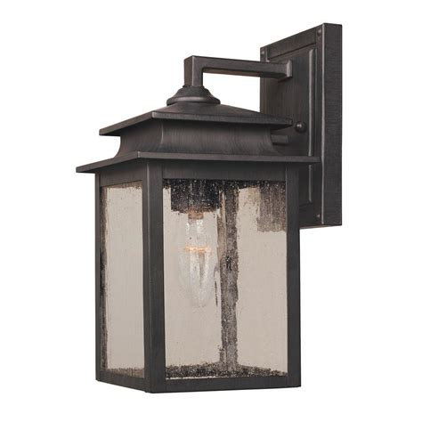 world imports sutton collection 1 light rust outdoor wall