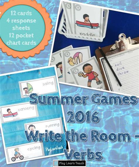 summer sports write  room verbs fun activities