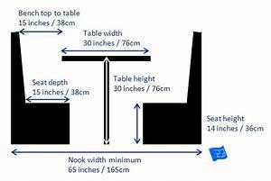 Woodwork Breakfast Nook Bench Dimensions PDF Plans