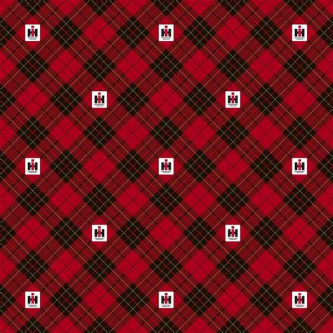 foto de IH Farmall Red and Black Bias Plaid Cotton Fabric Sold by
