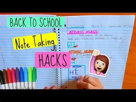 back to school hacks to back to school note taking hacks