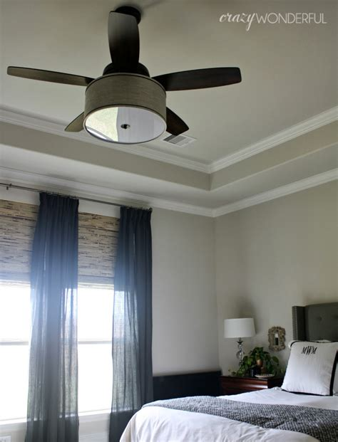 drum shade ceiling fan diy drum shade ceiling fan crazy wonderful