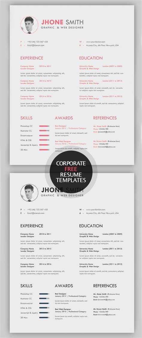 creative resume templates  cover letter freebies graphic design junction