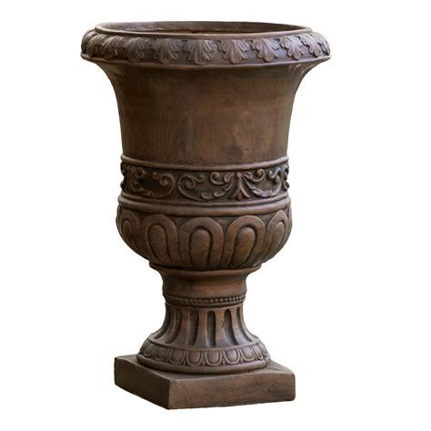 Noble House Roman Turkish 26inch Urn Planter, Brown