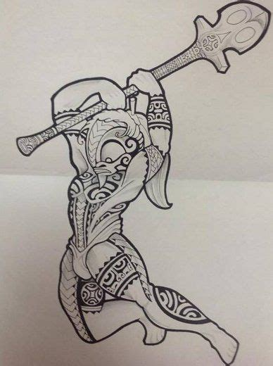 Signification Dessin Bateau by Mod 232 Le De Totem Tiki Dieu Marquesas Pour Tattoo Au Pur