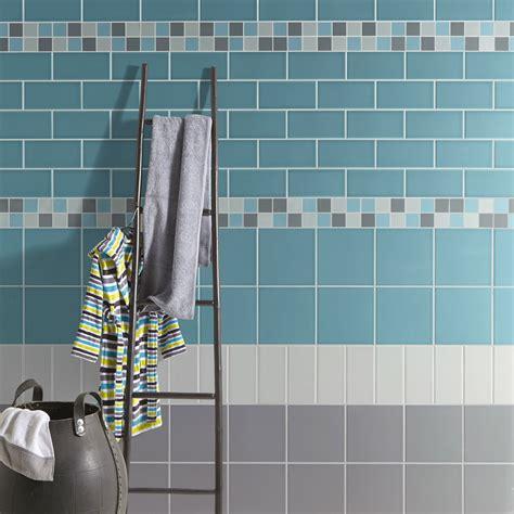mosaique mur astuce gris galet   bleu atoll