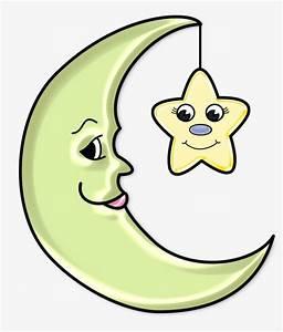 Hand, Painted, Cartoon, Moon, Stars