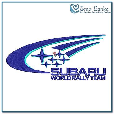 subaru rally logo subaru world rally logo embroidery design emblanka com