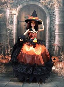 Robe quot halloween n4 quot tenue pour poupee barbie f3788 for Robe pour halloween