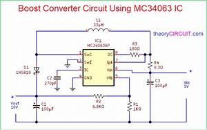 Boost Converter Circuit Using Mc34063 Ic